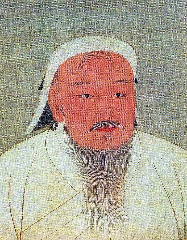 Gambar potret diri Kaisar Genghis Khan yang dibuat oleh seniman pada masa kejayaannya. (dok. wikimedia)