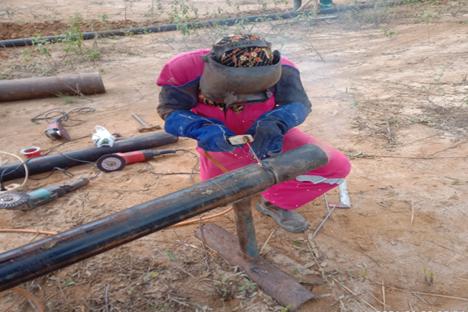 Gambar 3. Welding joint pipe