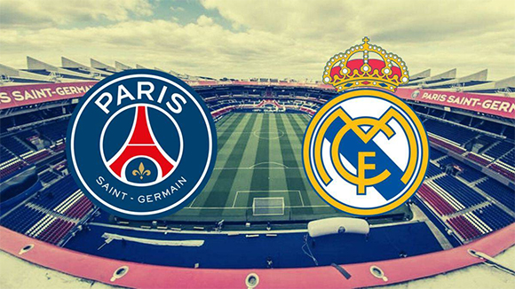 Logo PSG dan Real Madrid