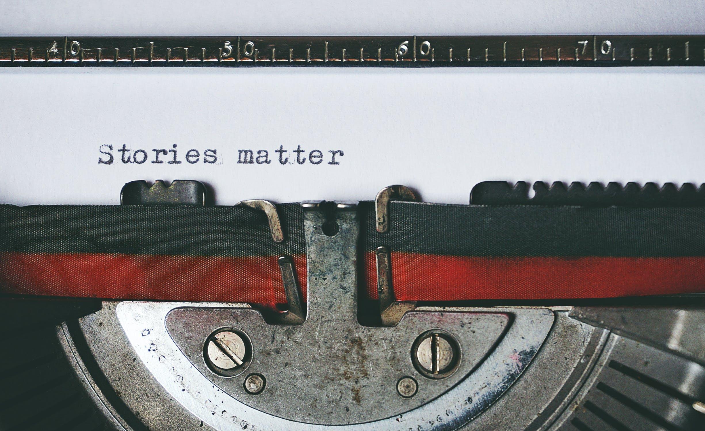 sometimes stories is need like type on typewriter