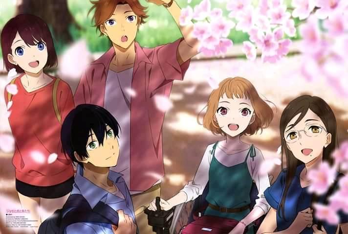 ilustrasi karakter Nao Emoto dan Haruto Iizuka di anime Josee
