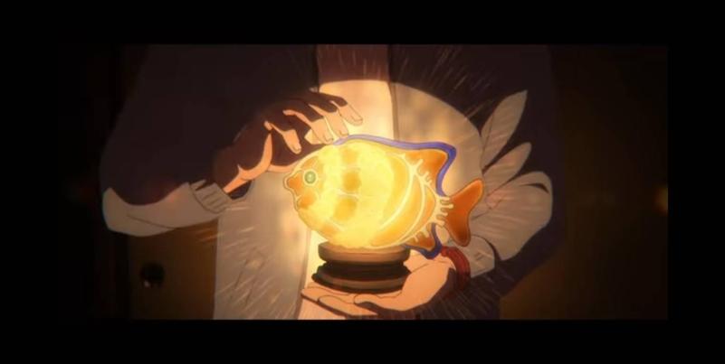 Tsuneo membuat Lampu Clarion Angelfish untuk Josee