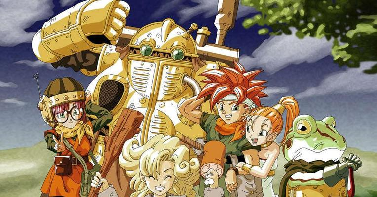 Protagonis (rambut merah) dan teman-temannya.