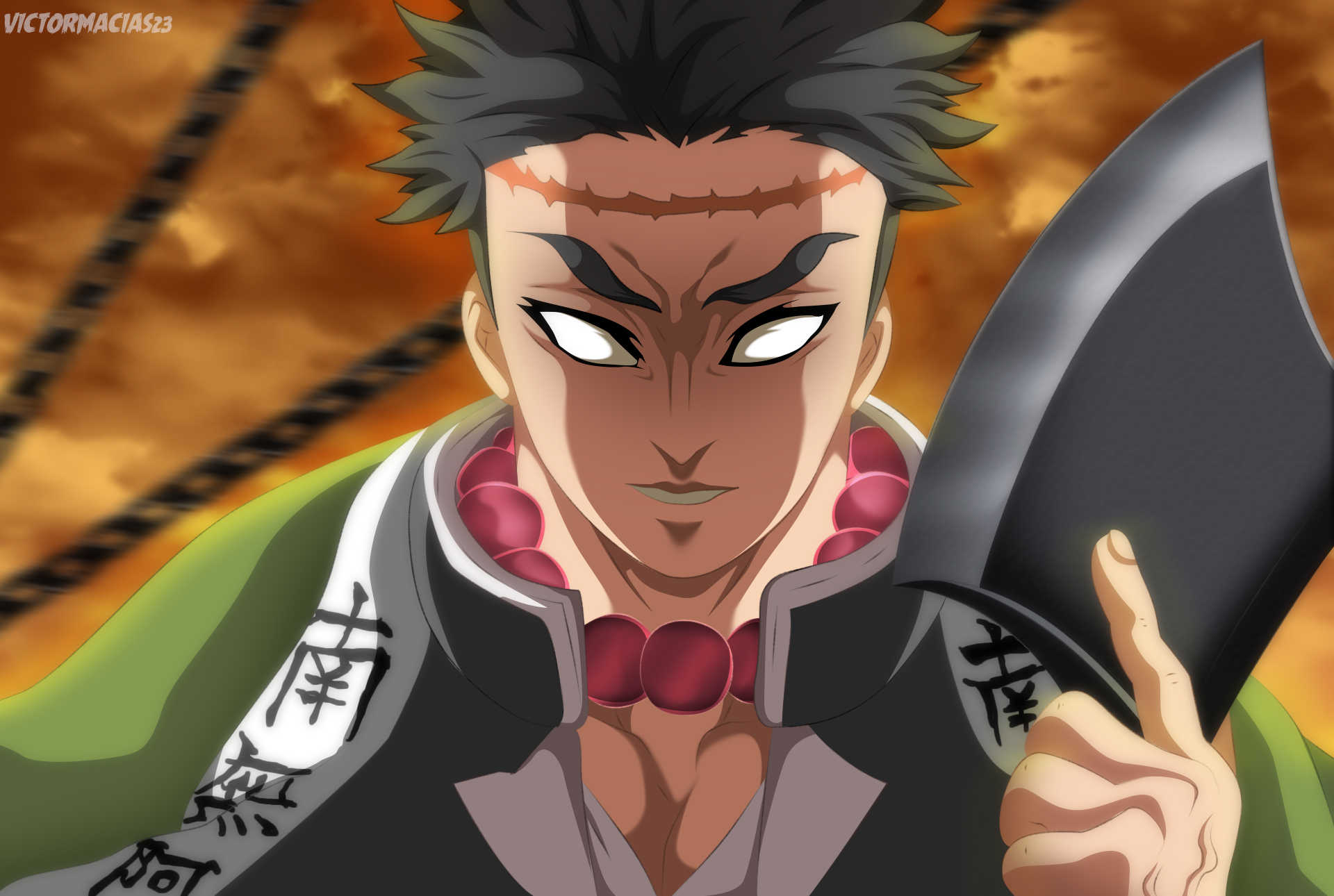 Gyomei Himejima, Hashira terkuat di serial Kimetsu no Yaiba. Sumber: deviantart.com