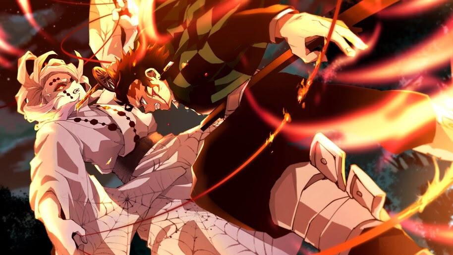 Tanjiro melawan Rui