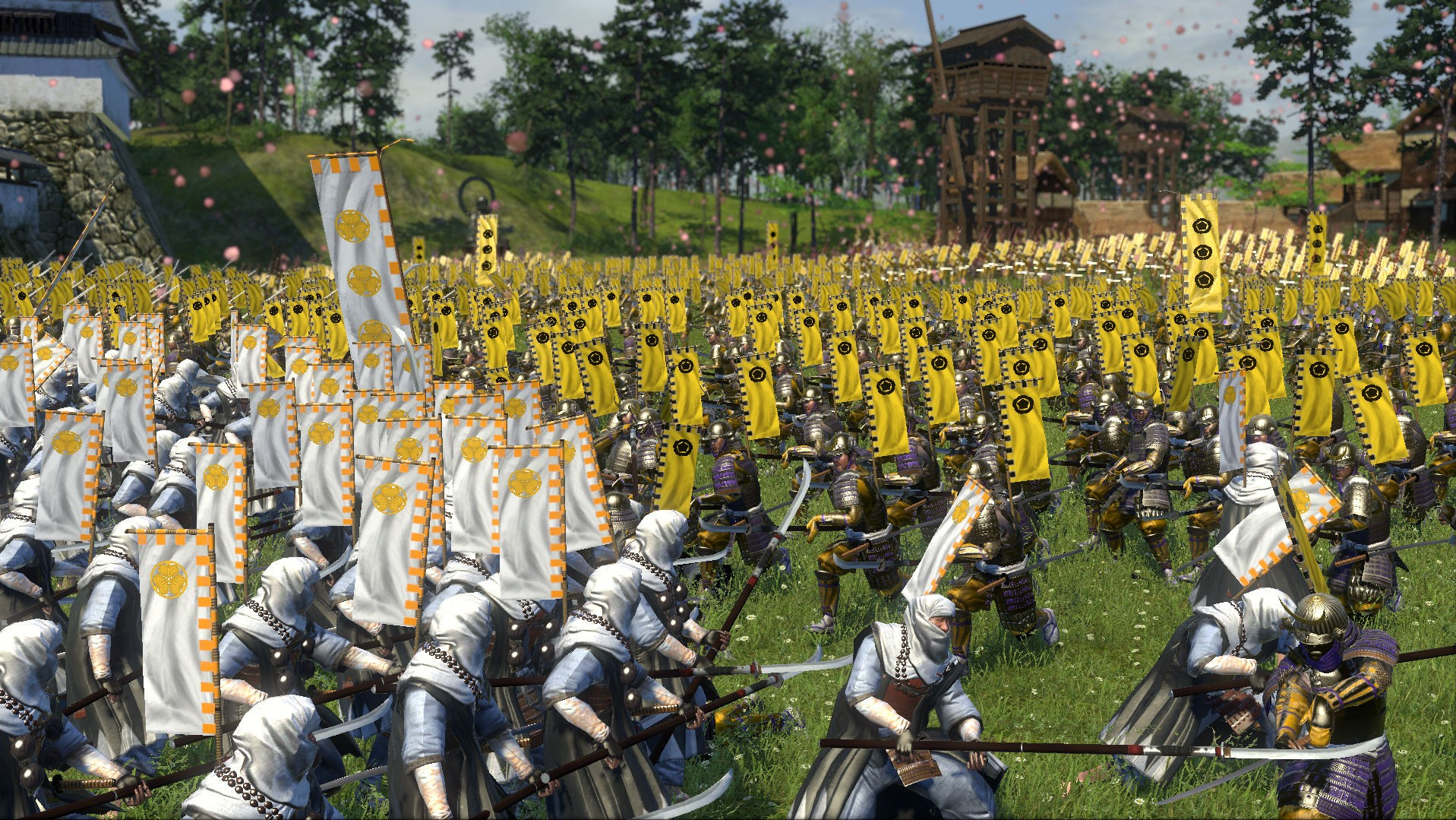 Adegan pertempuran di Shogun Total War