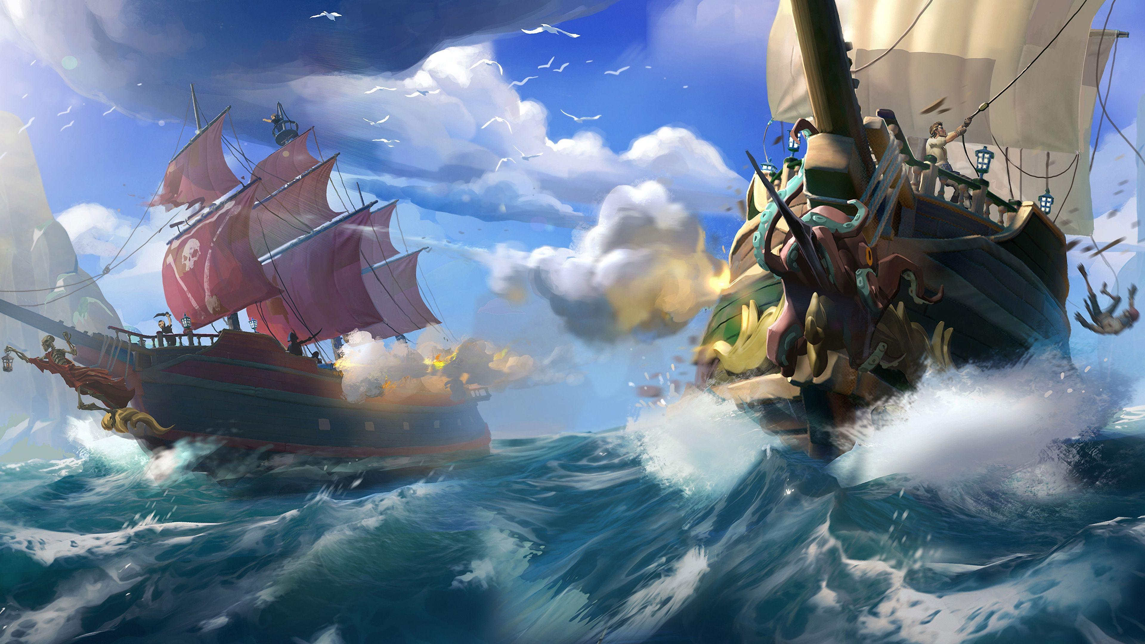 Permainan online berlatar era bajak laut, Sea of Thieves Foto: Xbox Game Studios