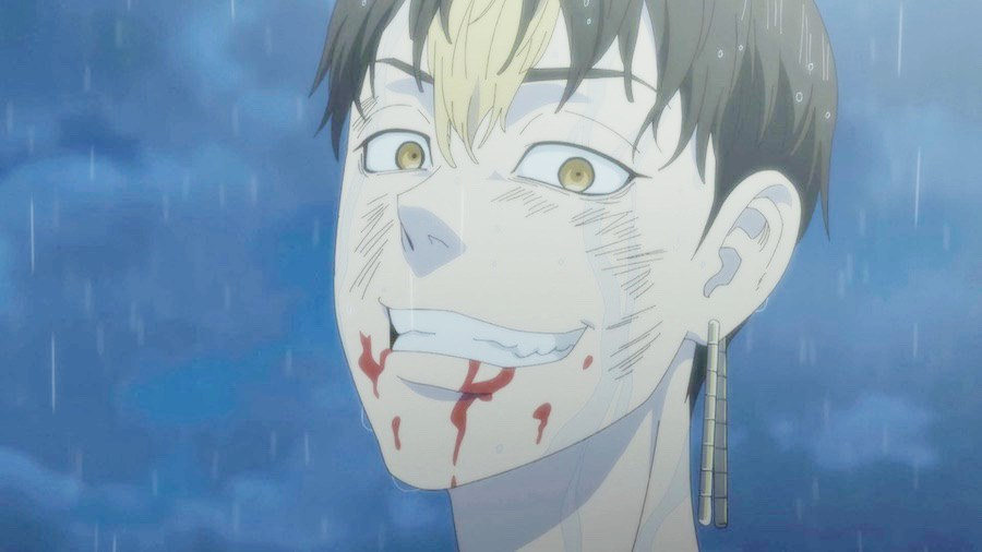 anime tokyo revengers episode 11 : Hanma Shuji tersenyum gila