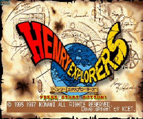 Layar judul Henry Explorer