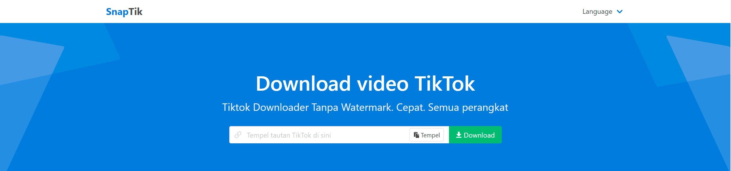 Cara Download Video TikTok & Facebook 4