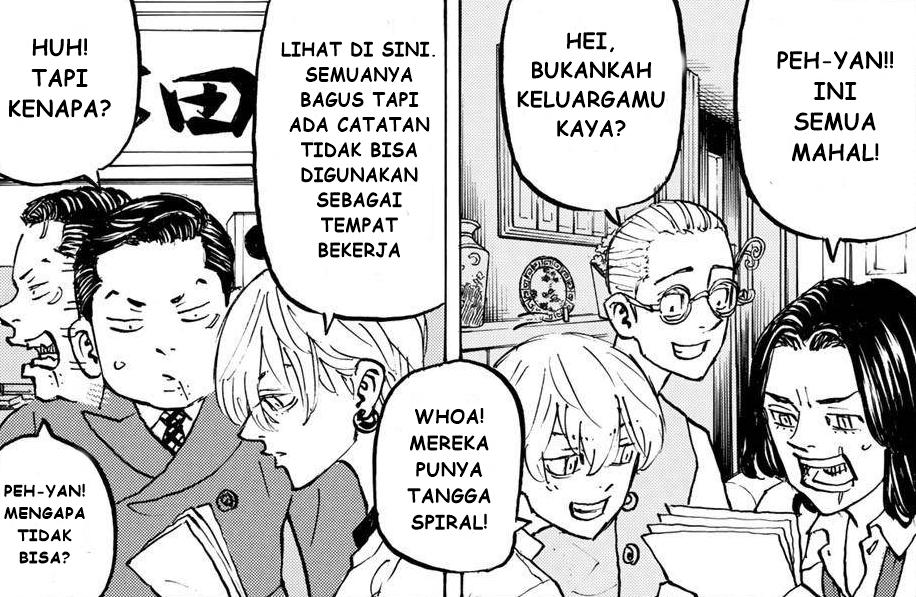 Pah-Chin, Mitsuya, Chifuyu, Peh-Yan, Hakkai sedang berdiskusi