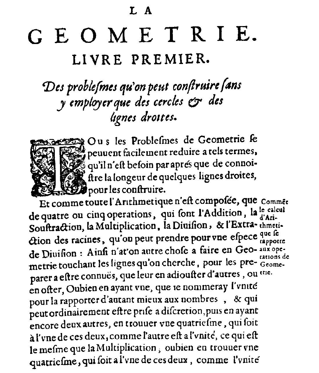 Salah satu halaman La Géométrie karya Descartes. Sumber gambar: wikimedia.org