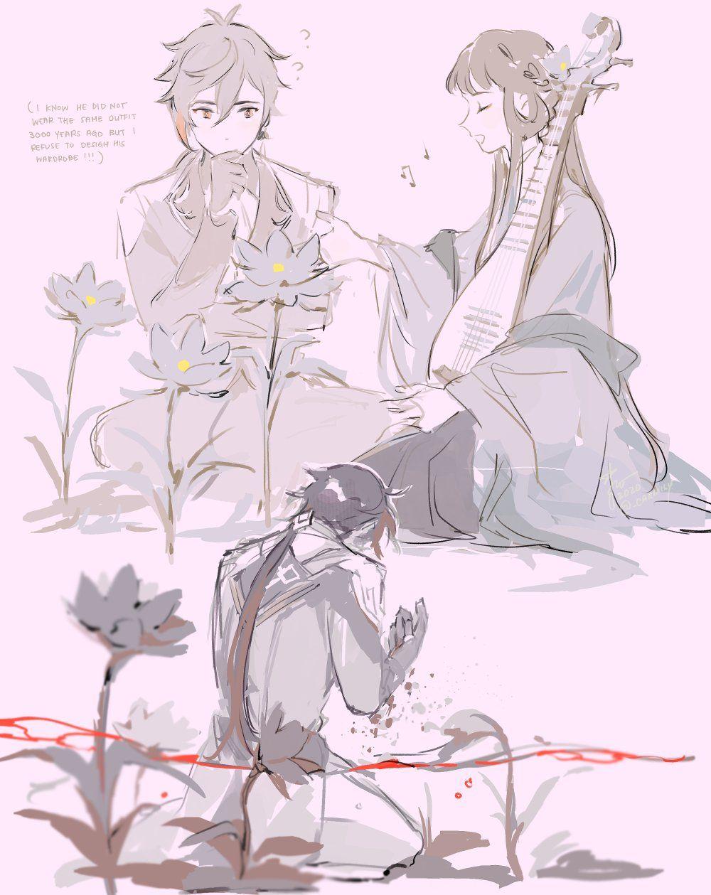 Genshin Impact lore : Guizhong, God of Dust 1st Love Zhongli 11