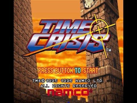 Layar judul Time Crisis 1