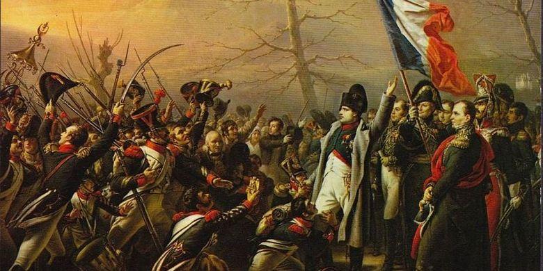 napoleon bonaparte dan pasukannya (sumber gambar : wikipedia)
