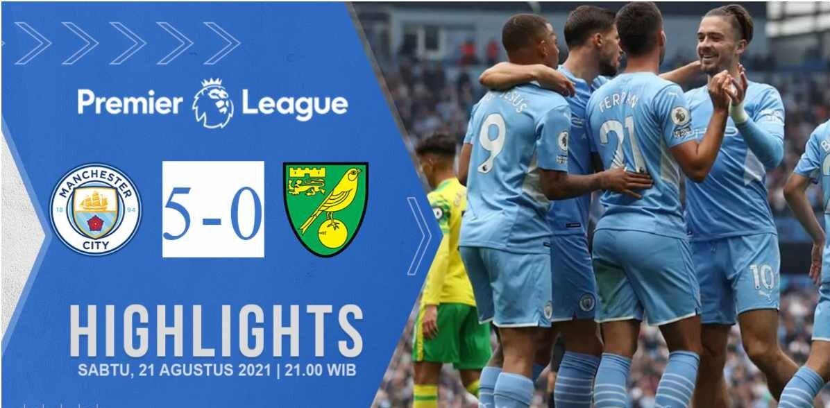 Manchester City 5-0 Norwich City, Etihad Stadium
