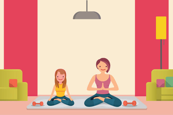 Ilustrasi meditasi.