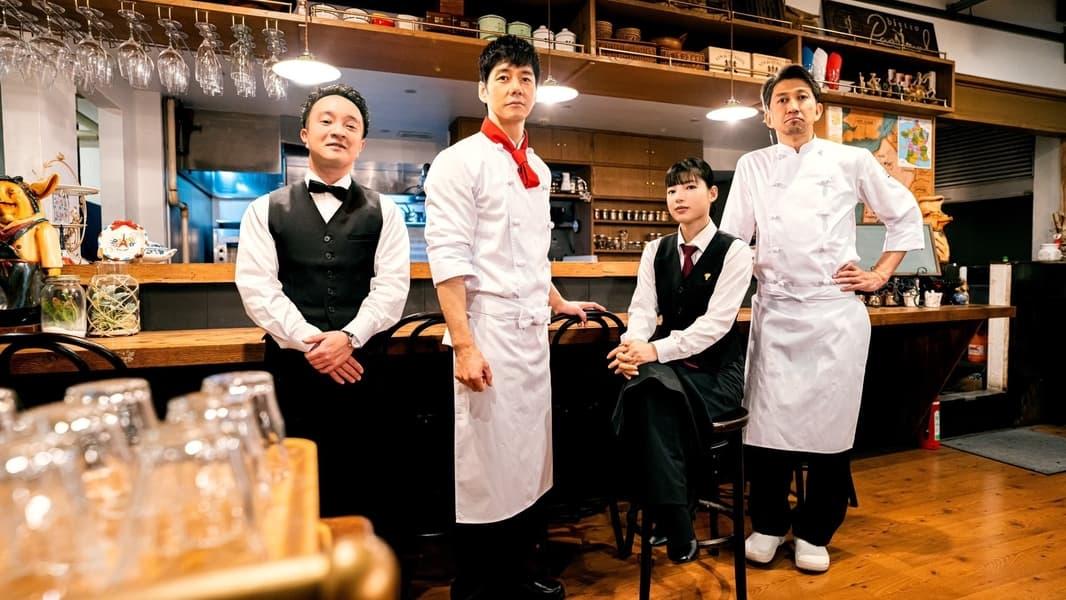 Dari kanan ke kiri: Takatsuki, Mifune, Kaneko, dan Shimura. Sumber: https://www.themoviedb.org/tv/124481-chef-is-a-great-detective