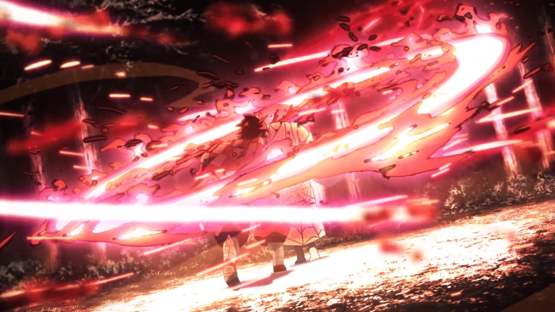 Pertarungan Tanjiro dan Rui dalam Episode 19 yang begitu memukau